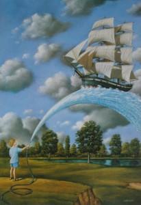 дете с кораб